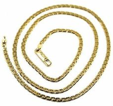 """SOLID 18K GOLD GOURMETTE CUBAN CURB 18K YELLOW GOLD CHAIN OVAL WAVE 2.8mm, 20"""" image 5"""