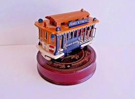 Powell Hyde St. San Francisco Cable Car Music Box Turn Table Revolving W... - $18.76