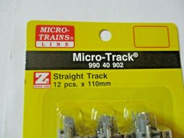 Micro-Trains Micro-Track # 99040902 110mm Straight Track, 12 pieces,  Z-Scale image 3