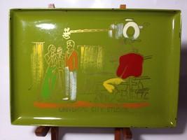 Universal City Studios souvenir tip tray 1960s dresser avocado green sou... - $30.48