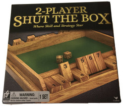 NEW 2-Player Shut the Box Where skill and strategy star - $14.01