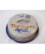 Floral Flower Print Stoneware Covered Tortilla Warmer Pancake Tortillera... - $24.74