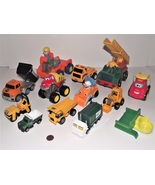 Lot of Diecast Cat Construction Trucks Toys Trailers Front Loaders Dump ... - $27.71