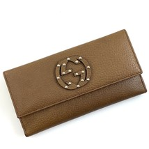 Gucci • Interlocking GG • Studded Coin Wallet New Light Brown Leather Cl... - £204.77 GBP