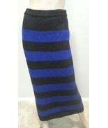 VTG 80's Christian Dior High Waisted Mohair Sweater Stripe Maxi Skirt S - $151.99