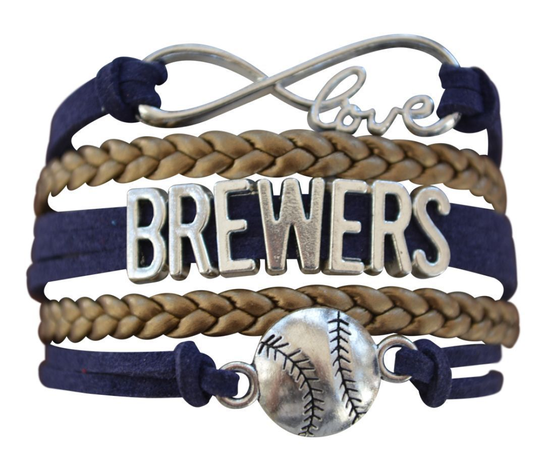 Milwaukee Brewers Bracelet, Brewers Jewelry, Brewers Gift