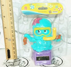 SOLAR POWER - OCTOPUS WITH SWIM GOGGLES & CRABS ON HAND DANCING TOY 3.75... - $4.64