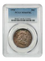1954 50c PCGS MS66 FBL - Franklin Half Dollar - $480.15