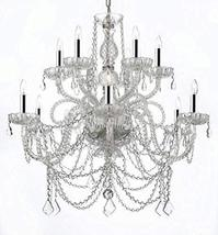 Chandelier Made with Swarovski Crystal w/Chrome Sleeves! Murano Venetian... - $464.51