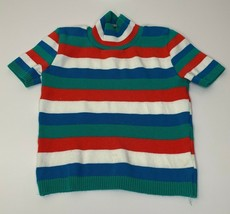 UN DEUX TROIS Girls stripe knit sweater Shortsleeved Top Size Small - $6.93
