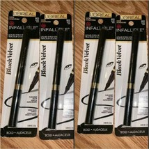 Ensemble De 4 Loreal Infallible Velours Noir Eyeliner Liquide, 903 Noir - $19.71