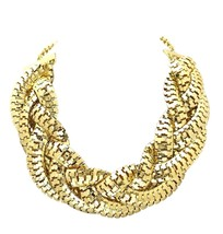 Industrial Mesh Chain Chunky Statement Necklace Set With Earrings - $68.12