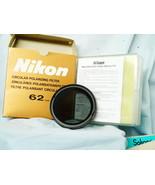 Nikon 62mm Circular Polarizer Cased Boxed -MINT- Actual Nikon - Top Quality - $35.00