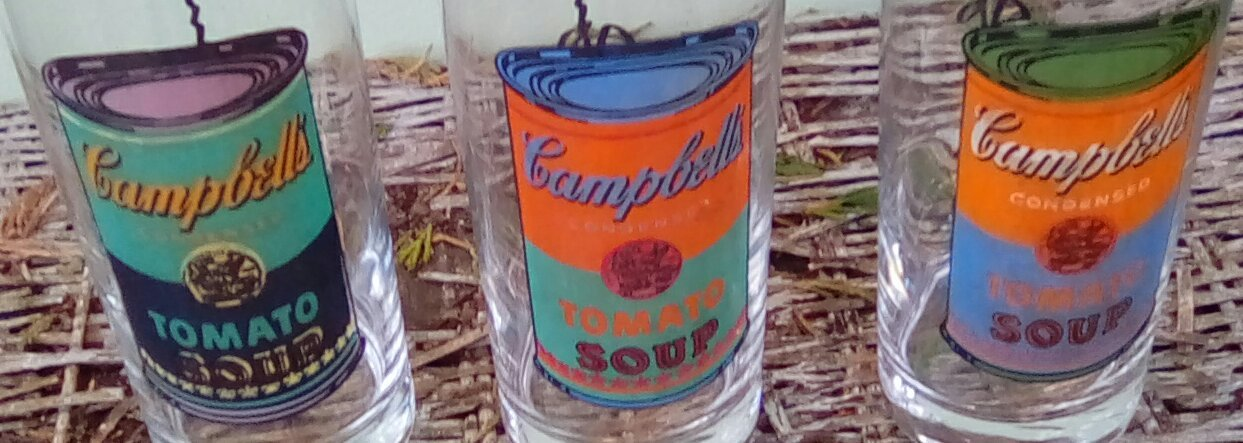 Vintage Andy Warhol Campbell's Soup Drinking Glasses.  G - 038 image 3