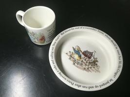 Wedgwood Beatrix Potter PETER RABBIT PORCELAIN BOWL & MUG SET  - $12.38