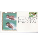1984 OLYMPICS SWIMMING STATION LOS ANGELES CA JULY 29 1984 COLORANO SILK - £1.43 GBP