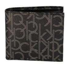 Calvin Klein Ck Men's Classic Leather Coin Case Id Wallet Black 79463 image 1