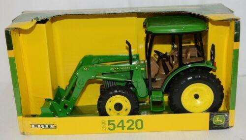 John Deere TBE15357 Die Cast Metal Replica 5420 Tractor Functional Loader