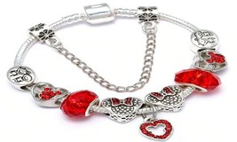 "Mickey's ""Magical Silhouette"" Disney Charm Bracelet (Red) - $13.99"