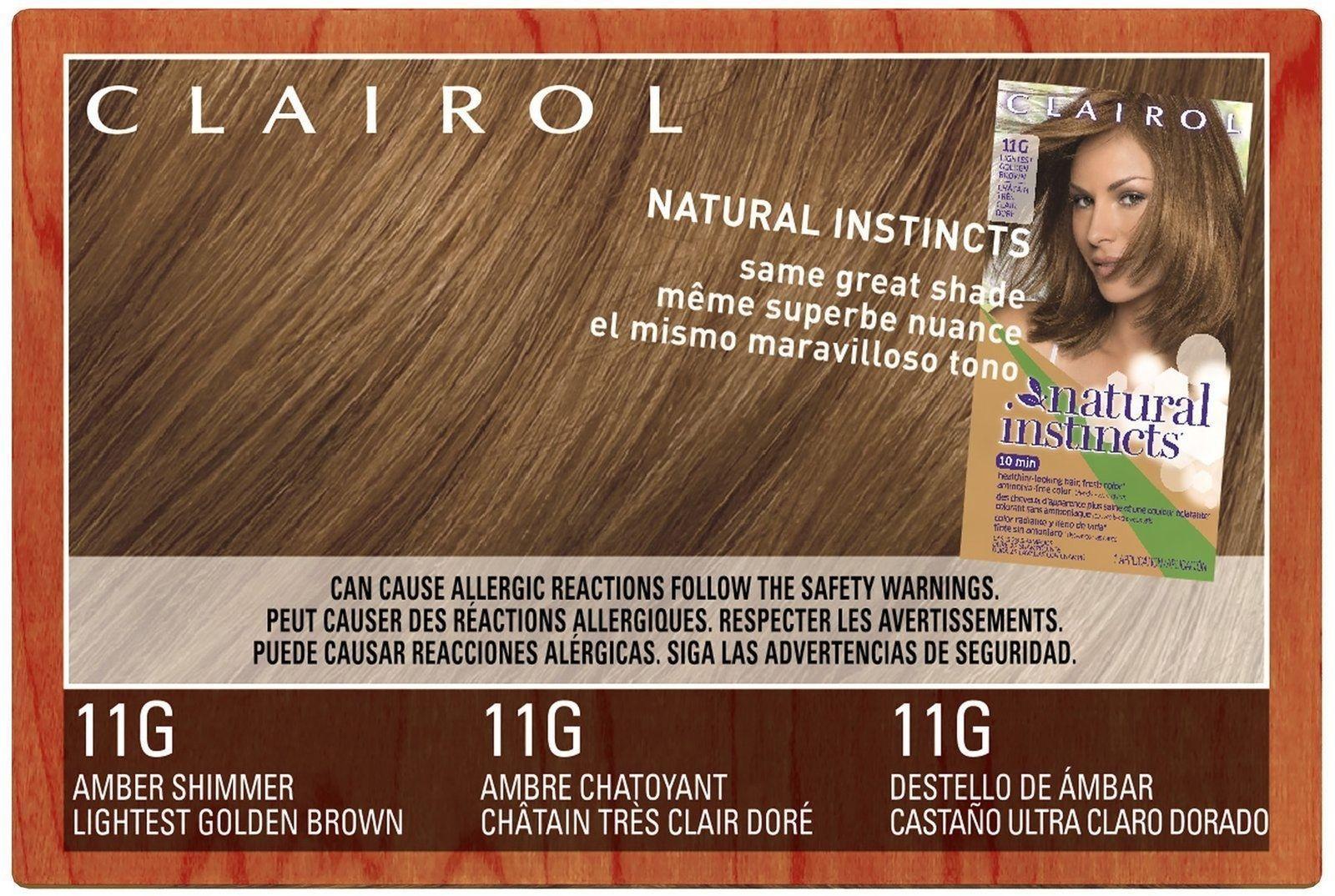 Clairol Natural Instincts 011g Amber Shimmer Lightest Golden Brown