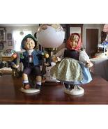 M.J. Hummel Goebel Porcelain Apple Tree Girl and Boy Dolls Bette Ball 13... - $193.05