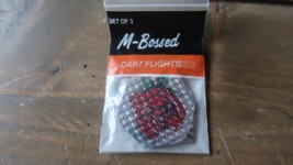 3 NEW Vintage Dart Flights M BOSSED ROSE - $2.96