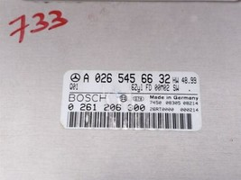 01 Mercedes W210 E320 ECU Engine Computer EIS Ignition FOB ISL Set A0265456632 image 2