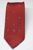 CHRISTIAN DIOR Burgundy Dots Mens Classic Necktie Neck Tie  56 x 3 - $15.99