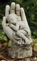 In the Hands of God Baby Child Memorial Miscarriage Stillborn Garden Statue - $45.99