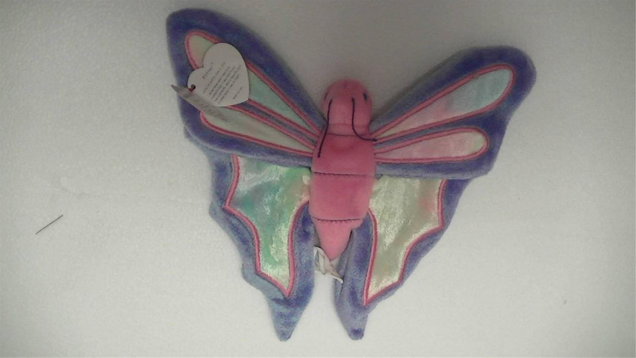 TY Beanie Baby Original Flitter the Butterfly 1999 with Tags
