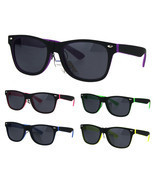 Kids Child Size Classic Pop Color Matte 2 Tone Horn Rim Sunglasses - £7.85 GBP