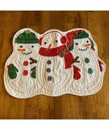 Christmas Snowman Place Mat St Nicholas Square Pillow Cover Craft Placemat  - $4.94