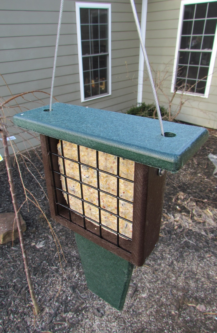 JCs Wildlife Recycled Single Suet Feeder Tail Prop Birdfeeder w/ Free Shipping