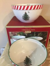 Spode Christmas Tree Peppermint Nesting Bowls - Set of 2 Bowls - New With Box! - $46.85