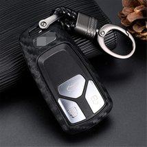 M.JVisun Soft Silicone Rubber Carbon Fiber Texture Cover Protector for Audi, Car image 7