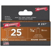 Arrow 257 T25 Round Crown Staples, 7/16; 1,000 pk - $19.63