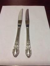 Rogers Oneida Chatelaine-Park Lane-Dowry Dinner Knife Lot Of 2 Silverpla... - $9.99