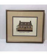 """Rising Sun Tavern Finished and Framed Cross Stitch 9.5"""" x 11.5"""" - $19.34"""