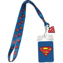 "Superman S Chest Logo 18"" Blue Lanyard with Chest Logo Rubber Charm, NEW... - $9.74"