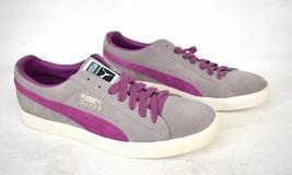 Puma Shoes Clyde Limestone Gray Dahlia Purple Sneakers 10 Mens Archive 1... - $69.25
