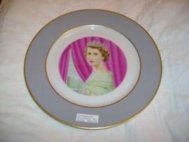 Nice Painted Queen Elizabeth II Coronation Plate Hughes - £14.67 GBP