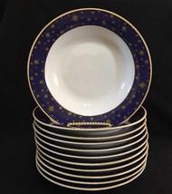 Set of 11 Sakura Tabletrendz Lumina Rim Soup Pasta Salad Bowls Stars Stoneware - $54.44