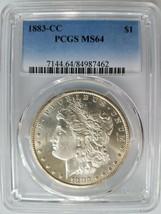 1883 CC Morgan Silver Dollar PCGS MS 64 Planchet Rim Clip Mint Error Clipped - $549.99