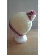 Baby Handmade Crochet Newborn Beanie/Light Yellow - $13.00