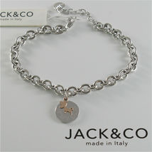 Silver Bracelet 925 Jack&co Jersey Shaped Rings and Pendant Gold Pink 9 Carats image 4
