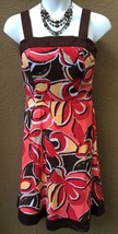R&K Originals Women's Sz.14 Dress Vacation Sun Dress Stretch Coral Brown... - $27.40