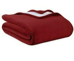 Berkshire Blanket PrimaLush Reversible Sherpa Full/Queen Blanket in Crimson - $51.38