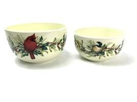 Lenox Cardinal and Holly Nesting Bowls Christmas NEW Winter Greetings Vi... - $45.53