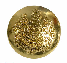 Ralph Lauren Coat of Arms Gold tone Metal Replacement Main Front button ... - $9.46