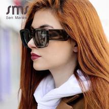 Vintage Black Square Sunglasses  Women Retro Fashion Sunglasses New Luxury Brand image 2